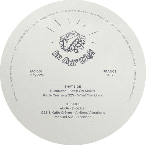 "Various ‎– In Any Case Records 003 12"" - Vinylhouse"