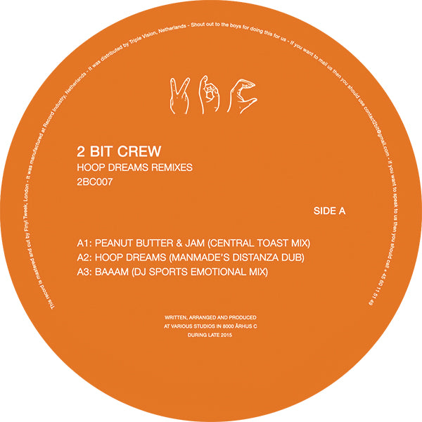 "2 Bit Crew - Hoop Dream Remixes 12"" - Vinylhouse"