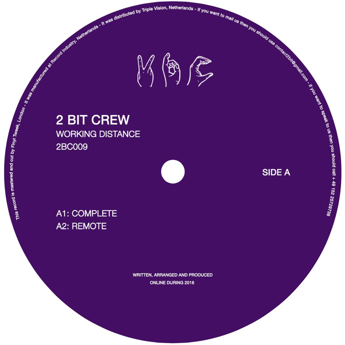 "2 Bit Crew - Working Distance 12"" - Vinylhouse"