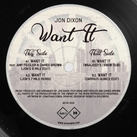Jon Dixon ‎– Want It 12""