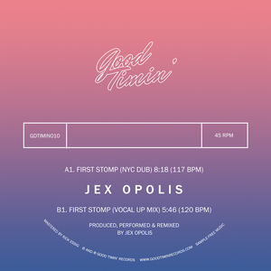 "Jex Opolis - First Stomp Remixes 12"" - Vinylhouse"