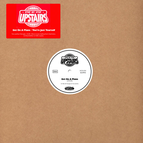 Upstairs ‎– Get On A Plane / You're Just Yourself 12""