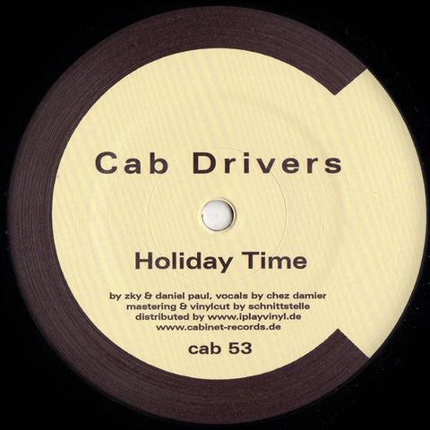"Cab Drivers ‎– Holiday Time 12"" - Vinylhouse"