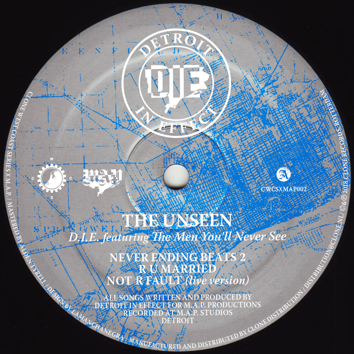 "D.I.E. Featuring The Men You'll Never See ‎– The Unseen 12"" - Vinylhouse"