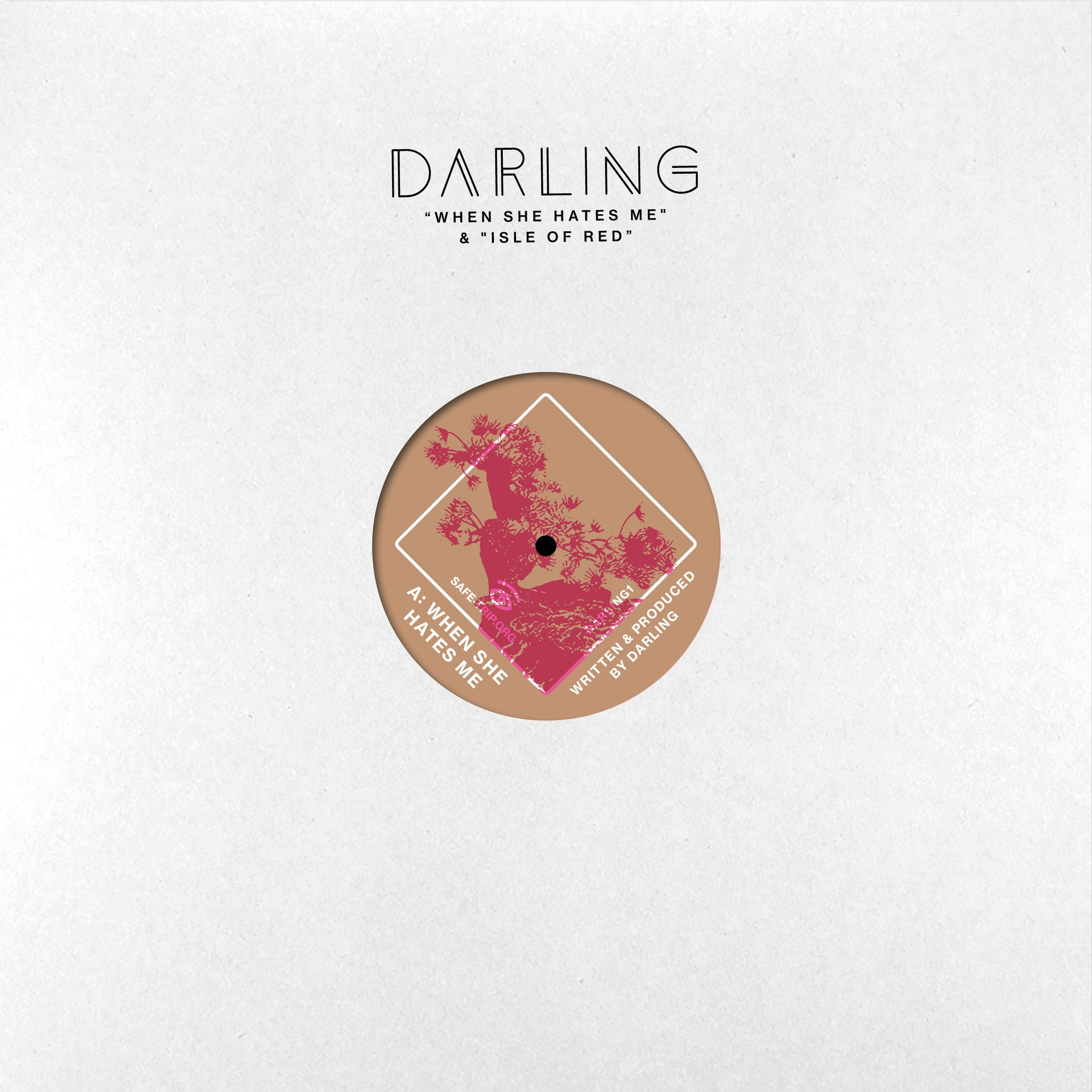 "Darling – When She Hates Me / Isle Of Red 12"" - Vinylhouse"