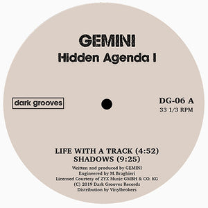 Gemini / Spencer Kincy ‎– Hidden Agenda / Tangled Thoughts 12""