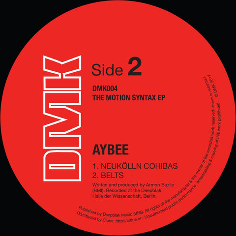 Aybee - The Motion Syntax EP - Vinylhouse