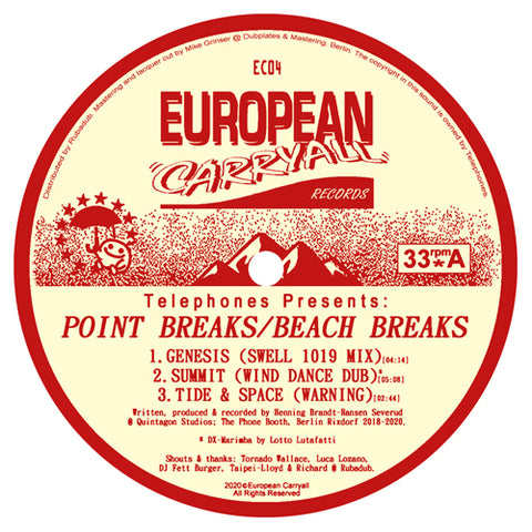Telephones ‎– Point Breaks / Beach Breaks 12""