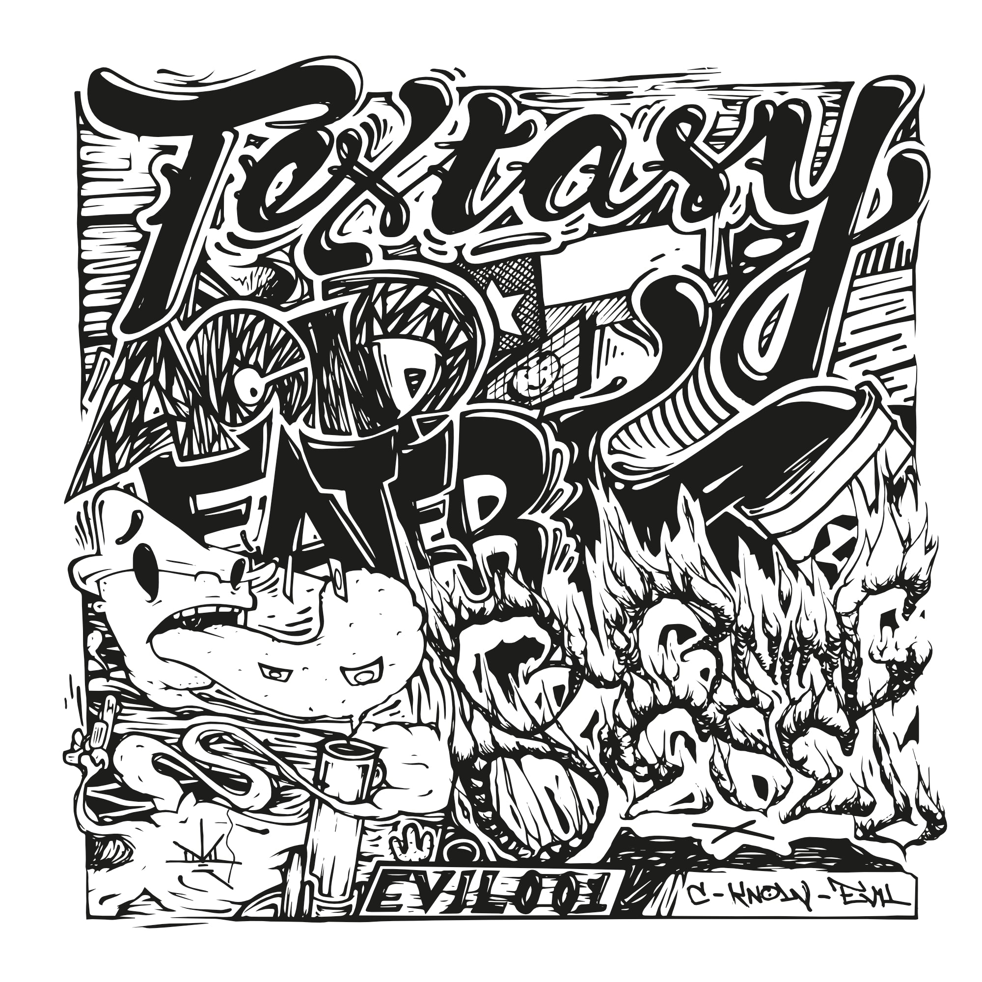 Textasy ‎– Acid Eater / Burning Diesel 10""