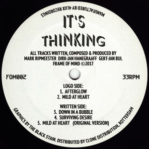 "It's Thinking - Afterglow 12"" - Vinylhouse"