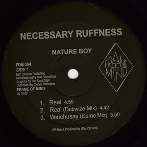 "Nature Boy ‎– Necessary Ruffness 12"" - Vinylhouse"