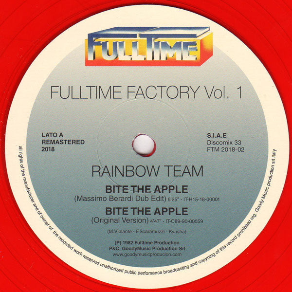 Rainbow Team / Selection ‎– Fulltime Factory Vol. 1 12""
