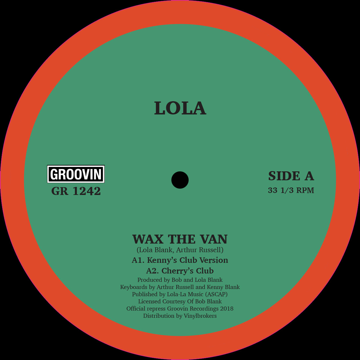 Lola ‎– Wax The Van 12""