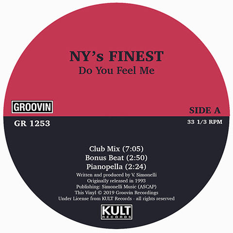 N.Y.'s Finest ‎– Do You Feel Me 12""