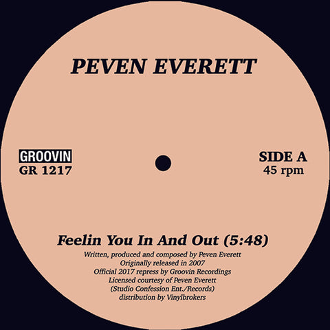 "Peven Everett ‎– Feelin You In And Out 12"" - Vinylhouse"
