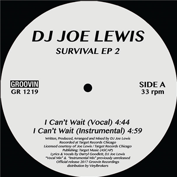 "DJ Joe Lewis ‎– Survival EP 2 12"" - Vinylhouse"