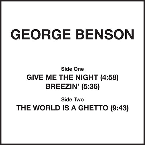 George Benson ‎– Give Me The Night 12""