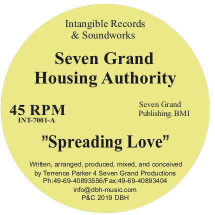 Seven Grand Housing Authority ‎– Spreading Love 12""