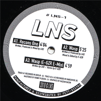 "LNS ‎– Recons One 12"" - Vinylhouse"