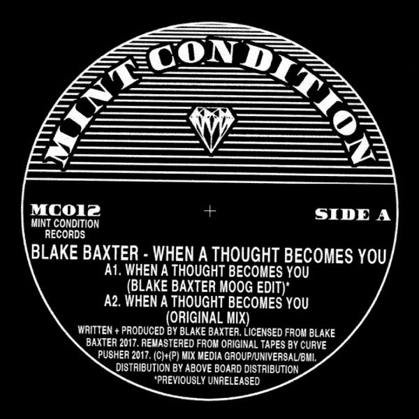 "Blake Baxter ‎– When A Thought Becomes You 12"" - Vinylhouse"