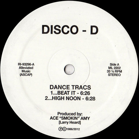 "Disco D - Dance Tracs 12"" - Vinylhouse"