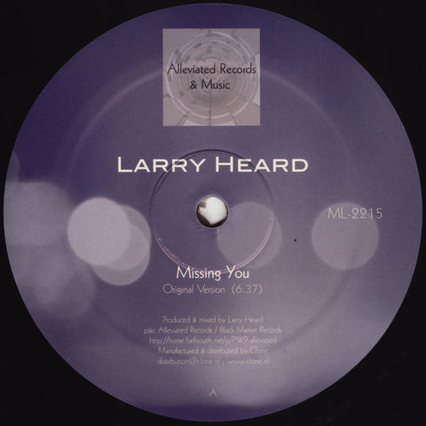 "Larry Heard ‎– Missing You 12"" - Vinylhouse"