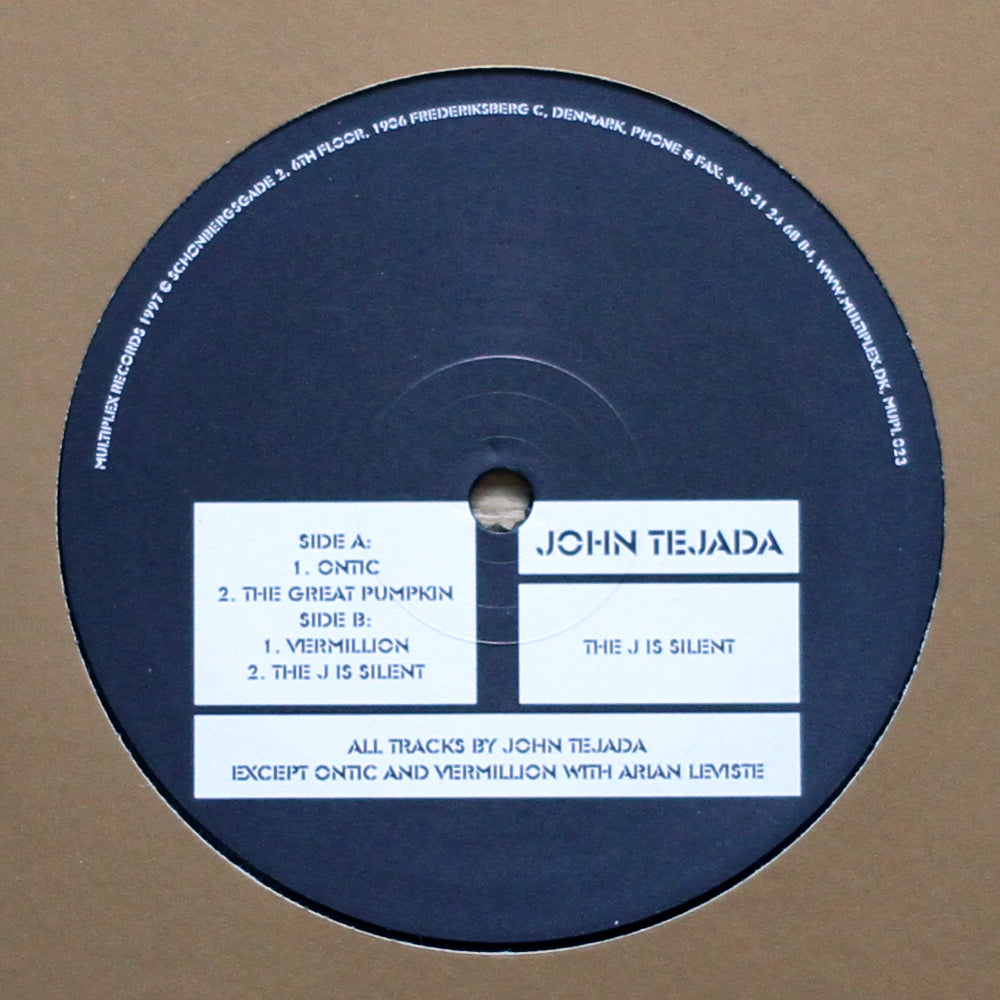 "John Tejada ‎– The J Is Silent 12"" - Vinylhouse"