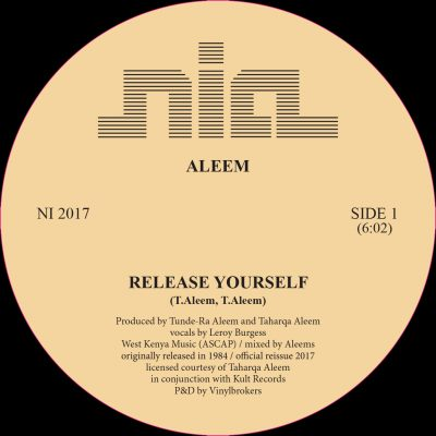 "Aleem ‎– Release Yourself 12"" - Vinylhouse"