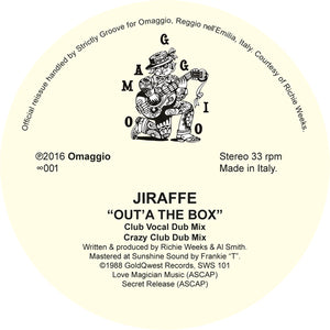 "Jiraffe ‎– Out'A The Box 12"" - Vinylhouse"