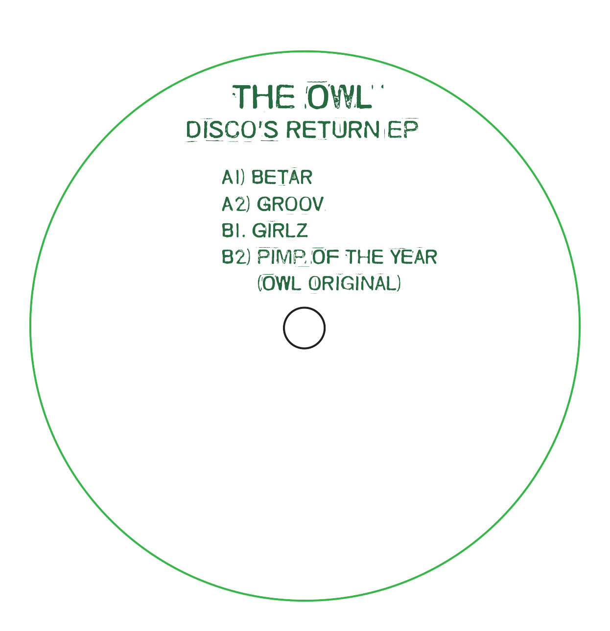 The Owl ‎– Discos Return EP - Vinylhouse