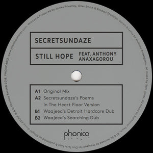 Secretsundaze feat. Anthony Anaxagorou ‎– Still Hope 12""