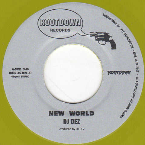 "DJ Dez ‎– New World / Brain 7"" - Vinylhouse"