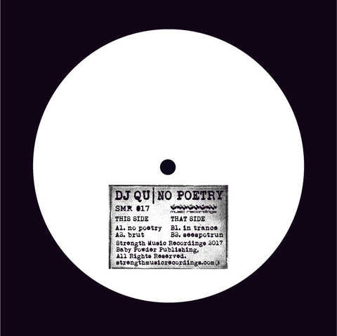 "DJ Qu - No Poetry 12"" - Vinylhouse"