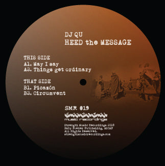"DJ Qu ‎– Heed The Message 12"" - Vinylhouse"
