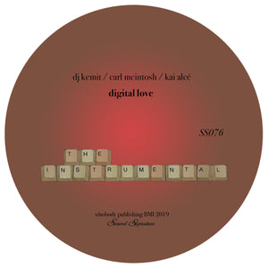 DJ Kemit / Carl McIntosh / Kai Alcé ‎– Digital Love (Remix) 12""
