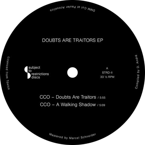 CCO / Narco Marco ‎– Doubts Are Traitors EP - Vinylhouse