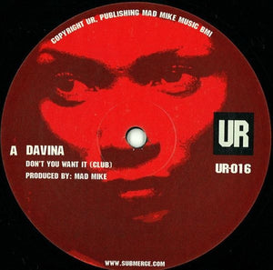Davina - Don't You Want It 12""