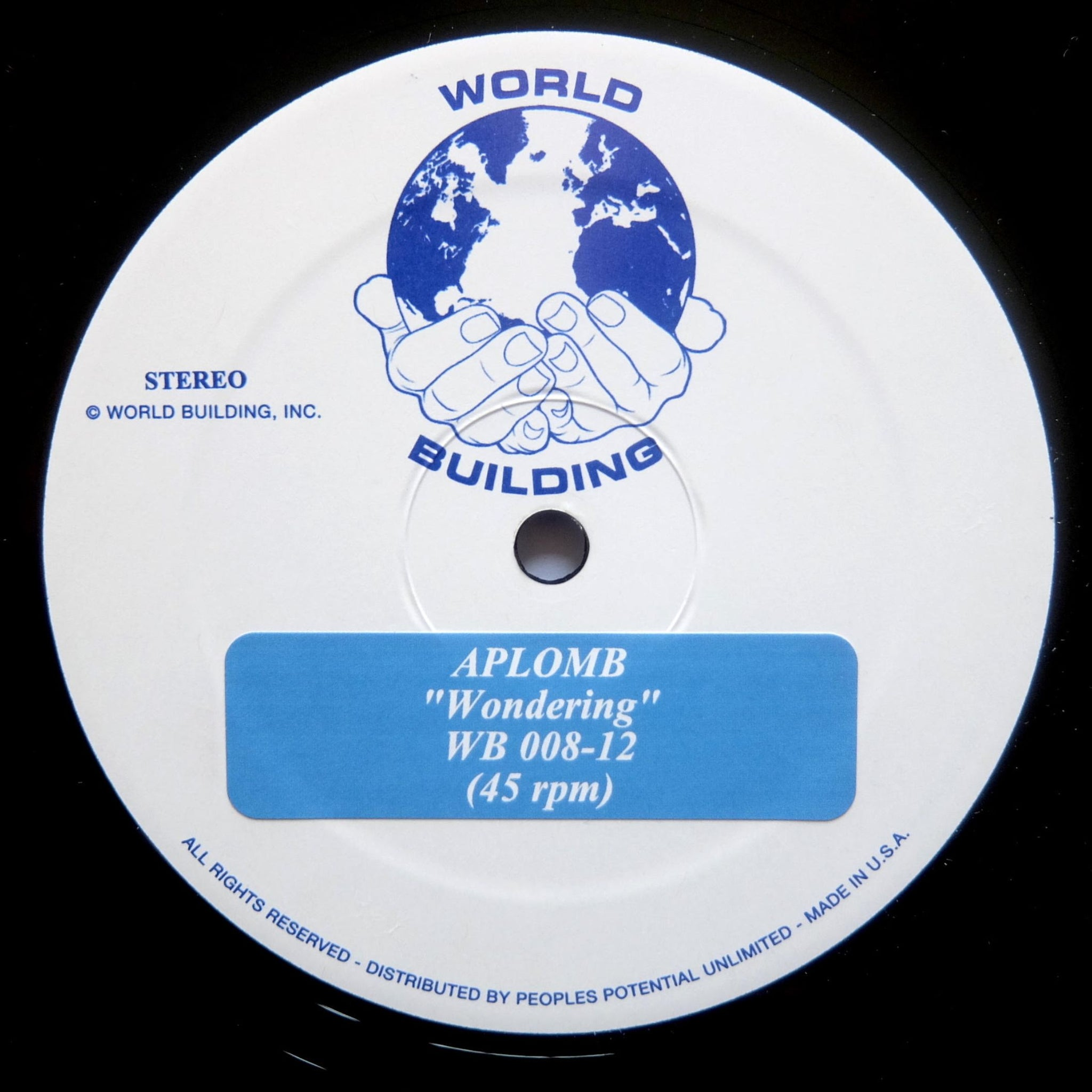 "APLOMB - Wondering 12"" - Vinylhouse"