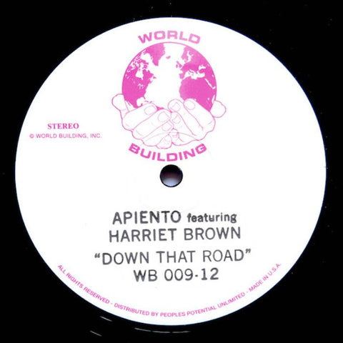Apiento Feat. Harriet Brown – Down That Road 12""