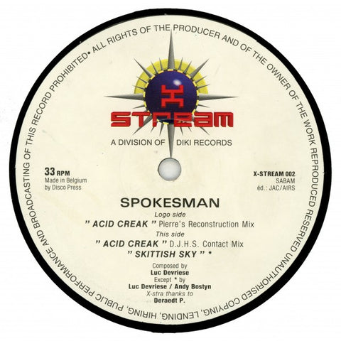 Spokesman ‎– Acid Creak 12""