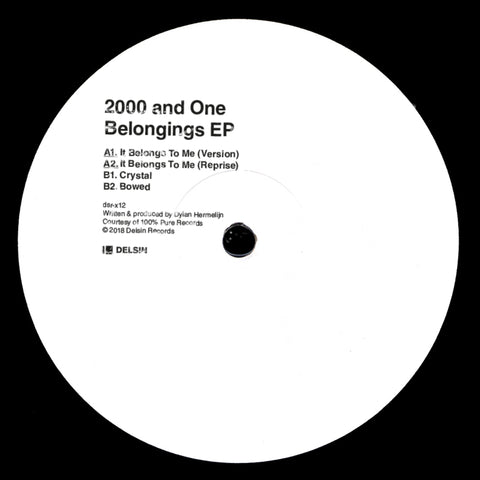 "2000 and One - Belongings EP 12"" - Vinylhouse"