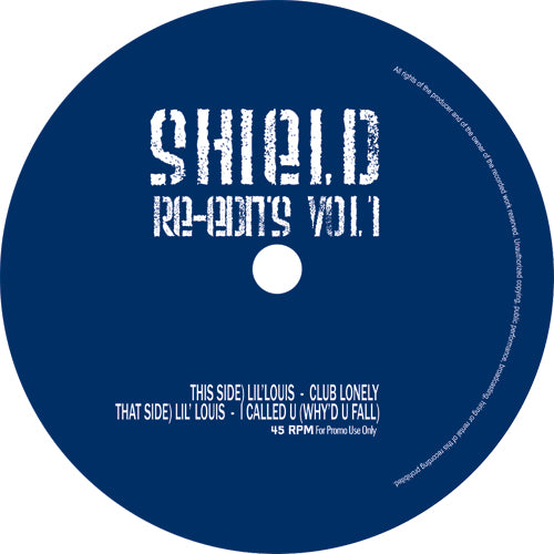 Lil' Louis ‎– Shield Re-Edits Vol.1 12""