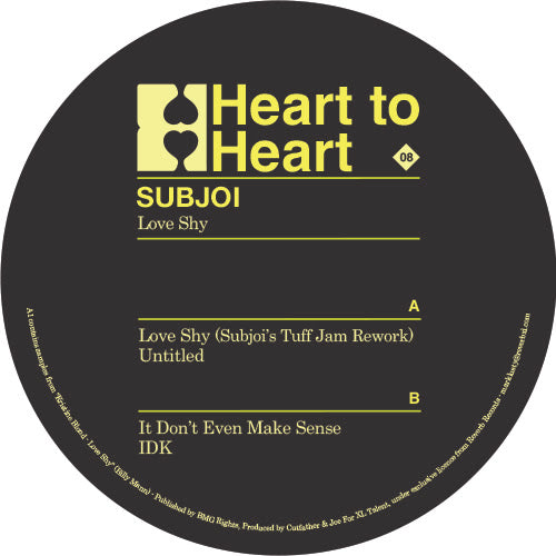 "Subjoi ‎– Love Shy 12"" - Vinylhouse"