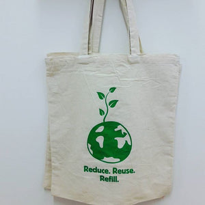 """It's Easy Being Green""  Reduce, Reuse, Refill Canvas Tote-Home- Obeehave"