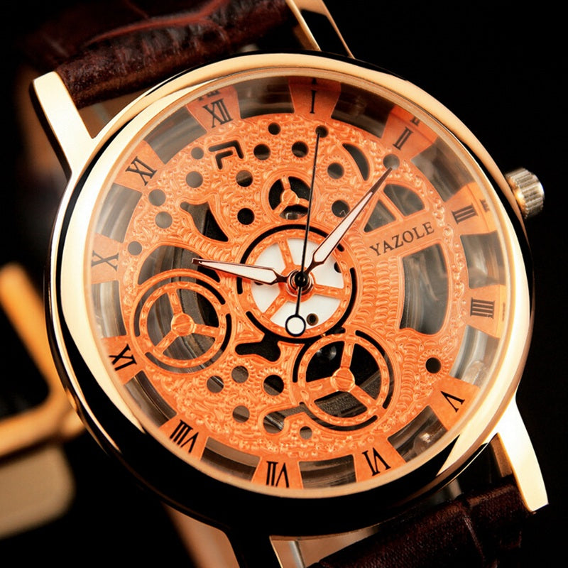 YAZOLE brand luxury watch with leather strap