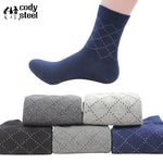 Cotton Brand Casual Dotted Line Diamond Male Socks