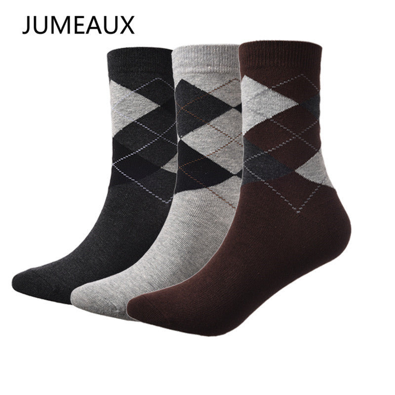 JUMEAUX 3 Pairs/Lot Men Dress Socks Breathable Cotton