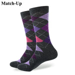 ARGYLE SOCK men's combed cotton