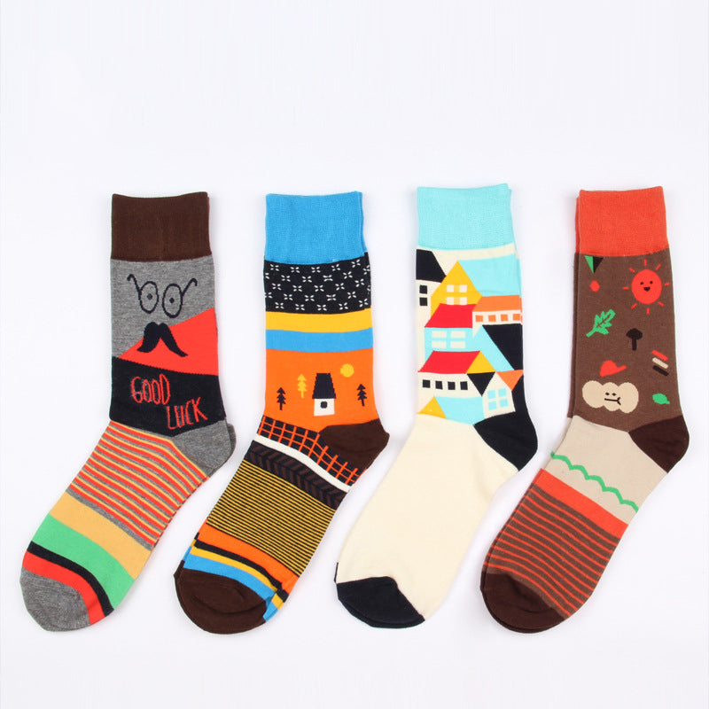 6 styles quality combed cotton socks