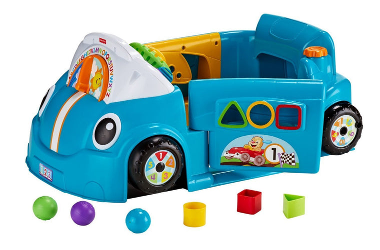 Fisher-Price Laugh & Learn Smart Stages Crawl Around Blue Car